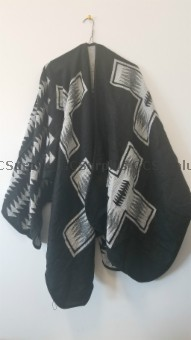Picture of Black and Grey Poncho