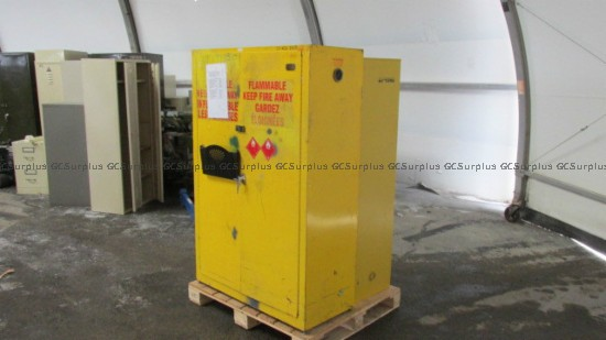 Picture of 2 Yellow Cabinets for Hazardou