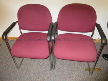 Picture of Burgundy Fabric Guest Chairs