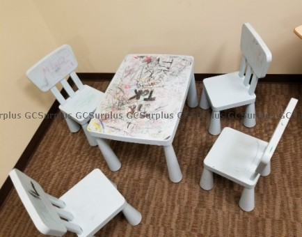 Picture of Kid's Plastic Table and Chairs