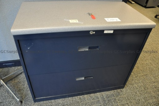 Picture of 9 Navy Blue Lateral Filing Cab