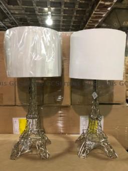 Photo de Paire de lampes de table en fo