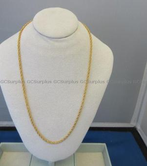 Picture of 21 Karat Yellow Gold Rope Chai